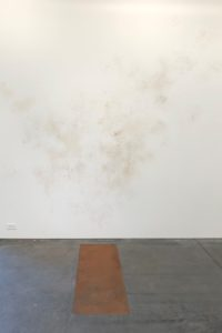 conceptual art with mud, ash