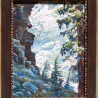 oil painting of mountain hemlock